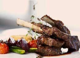 Lamb Ribs With BBQ Cream